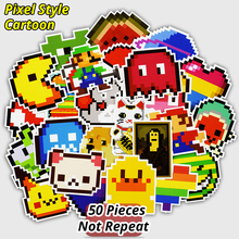 New 25 Pcs Pixel Style Cartoon Stickers for Laptop Luggage Skateboard Motorcycle Car Styling Home Decor Decal Waterproof Sticker(China)