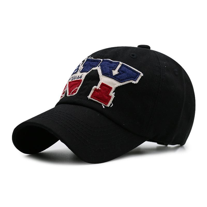 SNP Black white New York baseball cap bone snapback cap brand baseball cap gorras Black hats for men ny casquette hat wom 1