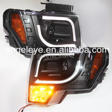 For FORD 2008 to 2012 Year F150 Raptor LED Strip Head Light Black Color SN(China)