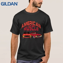 Printed Army Green Tee T Shirt Pattern Still Plays With American Muscle Cars Homme T Shirt Mens The New Cotton