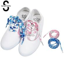 2 Pairs Flat Shoelaces Shoe Laces High Quality Polyester Printing Shoelace for Sneakers Sport Shoes 120cm LDD0535Q2