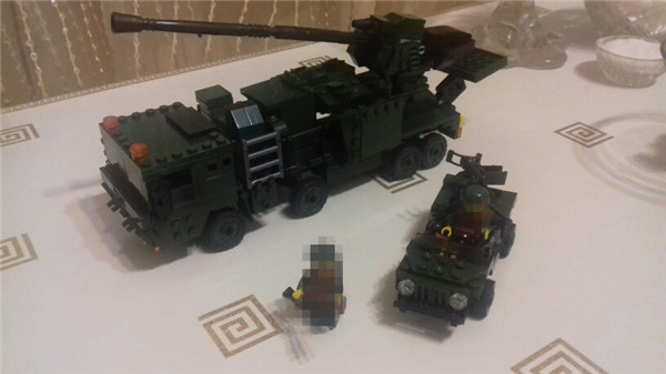 594pcs Field Army Series Guidance Radar Vehicle Building Blocks Brick Figure Comaptible Lepins DIY Model Toy<br>