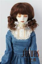 JD294 1/3 21-23 CM SD Mohair BJD wigs Baby Twintail mohair doll wig 8-9 inch doll accessories(China)