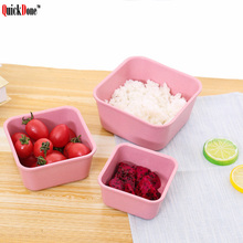 QuickDone 3Pcs Wheat Straw Lunch Box Sealed Crisper Preservation Food Storage Portable Outdoor CampingTravel Dinnerware AKC6114(China)