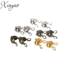 200pcs/lot Gold/Silver/Bronze/Rhodium/Gunblack Connectors Clasps Fitting Dia 3mm Ball Chain Components Jewelry Accessories F104C