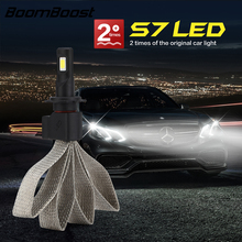 LED BoomBoost Super Bright Car Headlights Auto Front Bulb Automobiles Headlamps 6000K CE LED H7 H4/H13 H3 H11 9005 9006 H1 880(China)