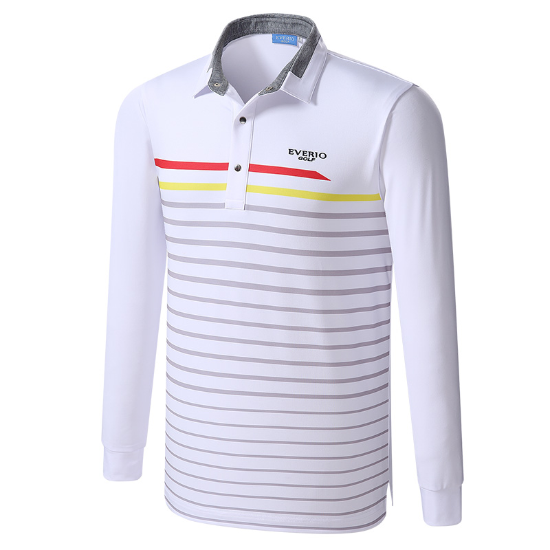Golf shirts Newest Autumn Striped Long Sleeve  Appreal Men Breathable sport Golf Clothes  MenS Long Sleeve Polo Golf tops<br>