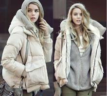 Hot Sale Women Casual Slim Short Down Coat Jacket With Fur Parka Winter Jacket Thicken Down Outwear