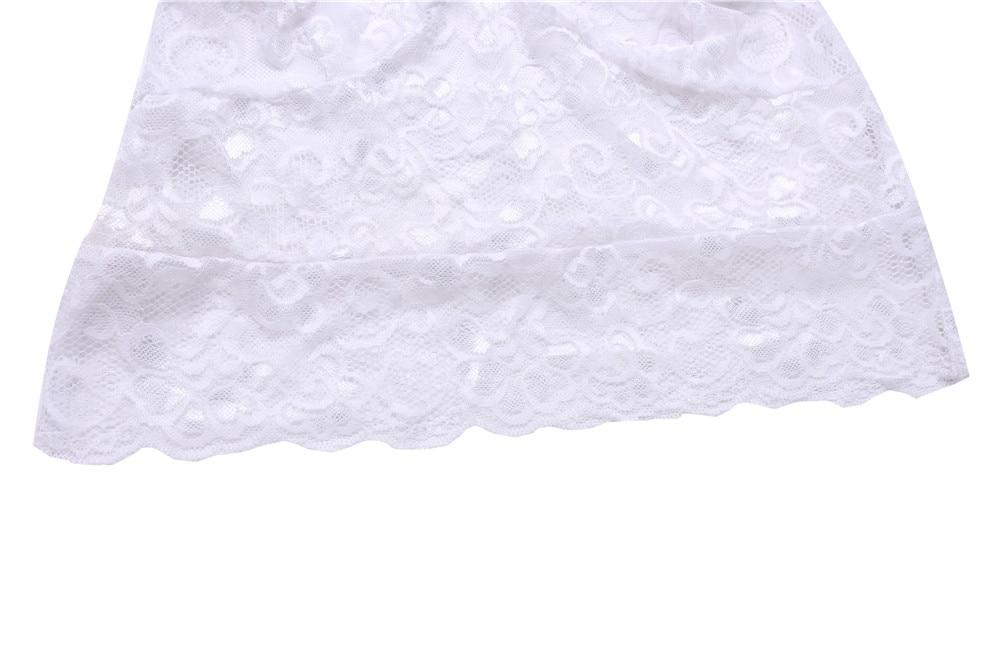 2 pc/ensemble Dentelle Femmes 2018 Nouvelle D'été Pourpre Blanc Sexy Lingerie Chaude Plus La Taille Sous-Vêtements Costumes Babydoll Lingeries Femme Femme 14