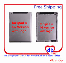 For Apple iPad 4 A1460 A1459 4G 3G Version Battery Door Back Rear Housing Cover Case Replacement with logo Free Shipping