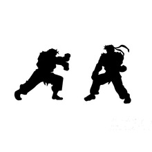 Japanese Anime Fighting Game Street Fighter Fighting Car Sticker for Truck Motorcycles Kayak Reflective Vinyl Decal 10 Colors