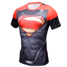 MEW Men bodys armour marvel captain america/superman/batman/punisher compression t shirt men thermal under tees fitness tights