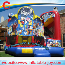 free air shipping to door,5*4m mickey mouse  kids inflatable jumper  combo,inflatable  bounce house,bouncer slide