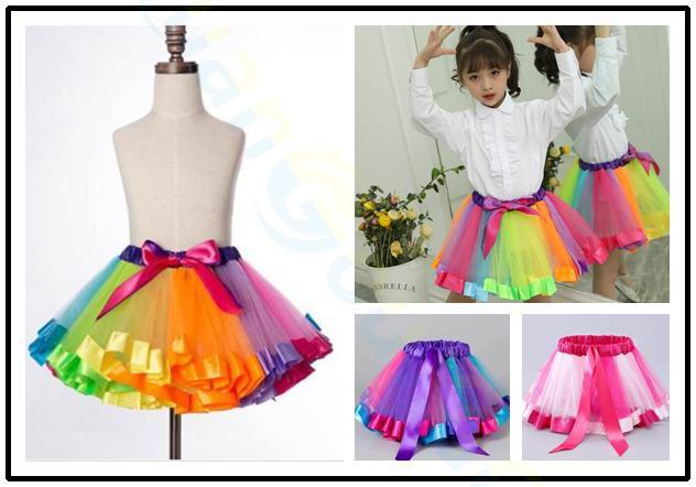 Ladies Girls Kids Pettiskirt Tutu Dancewear Princess Ballet Fancy Dress Party B4