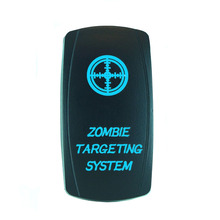 High Quality 5 Pin Laser Backlit Blue Rocker Toggle Switch ZOMBIE TARGETING SYSTEM 20A 12V On/off LED Light Wholesale [KG-036-1]