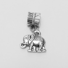 tibetan silver pendants bail jump rings Elephant necklace bracelet mobile phone bag charms spacer making findings composant diy