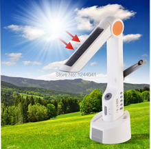 Multifunctional Solar Desktop LED Light Dynamo Solar Lamp with Phone Charger FM Radio Speaker For Camping Outdoor Barbecue Tools