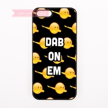 tough cover case for iphone 4 4s 5 5s 5c se 6 6S 7 Plus iPod Touch cases emoji dab on em pattern cartoon funny face for boy girl