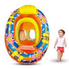 Hot Sale Kids Baby Child Inflatable Swimming laps Pool Swimming Ring Seat Float Boat Outdoor Funny Water Sports Toys(China)