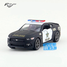 Free Shipping/KiNSMART Toy/Diecast Model/1:38 Scale/2015 Ford Mustang GT Police/Pull Back Car/Educational Collection/Gift/Kid(China)