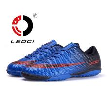 LEOCI Soccer Cleats For Kids Man Balanced Impact Resistance Football Shoes Women Indoor Cheap Athletic Soccer Traning shoes