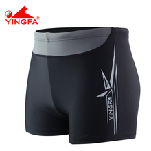 Yingfa 2017 new leisure boys swimwear breathable flexible men's swimming trunks boxer swimming Brief male spa swimsuit Y3016(China)