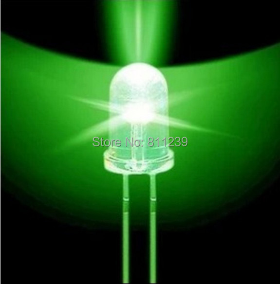 1000Pcs LED F5 5MM Green COLOR Green LIGHT Super Bright Bulb Lamp