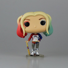 Hot Figures TOYS Suicide Squad Harley Quinn DEADSHOT The Joker PVC 10CM Action Figure Collection Model Movie Kids Toys with Box