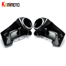 "KEMiMOTO Lower Vented Leg Fairings + One Pair of 6.5"" Speaker Boxes Pods For Harely Touring 1983-2013 AFTER MARKET(China)"