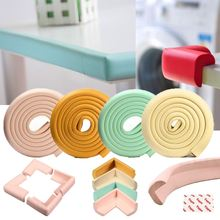 4Pcs Baby Safety Edge Guards Strips 2M Protection Zone Tape Children Protection Corner Soft Table Desk Children Safety Corner