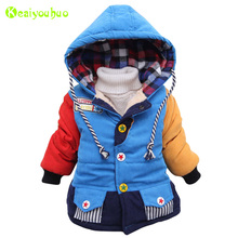 KEAIYOUHUO Baby Boys Jackets 2017 Autumn Winter Jacket For Boys Infant Coat Kids Warm Cotton Outerwear Coats Children Clothes