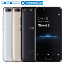 DOOGEE Shoot 2 Dual Camera mobile phones 5.0Inch Android 7.0 Cellphone Dual SIM MTK6580A Quad Core 3360mAH WCDMA Smartphone