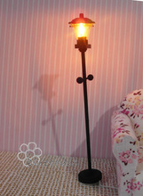1: 12 Doll house streetlights floor lamp floor lamp battery cable doll house(China)