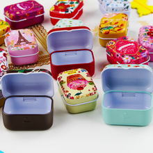 Tin Box Storage Jewelry Tean Case Pill Candy Coffee Sugar Container Mac Cosmetic Organizer Caixas Decorativas Storage Box Metal(China)