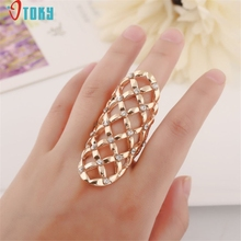 OTOKY Gussy Life Fashion Design Women Hollow Metal Crystal Rhinestone Knuckle Rings Finger Joint Ring Mar22(China)