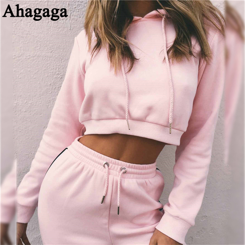 Women's Tracksuits Set, Casual Hooded Sweatsuit Set 25