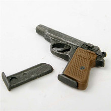"1/6 Scale Dragon Weapon Model Automatic Pistol Walther PPK Gun Model For 12"" Soldier Figure Accessory(China)"