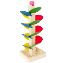 1 Set Hot Sale Montessori Kids Wooden Toy Tree Marble Ball Drop Run Sprint Track Game Fun Toys for Children Intelligence Blocks