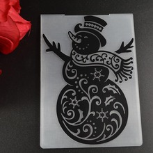 Christmas series Snowman PLASTIC EMBOSSING FOLDER DIY SCRAPBOOKING PHOTO ALBUM CARD CUTTING DIES TEMPLATE(China)