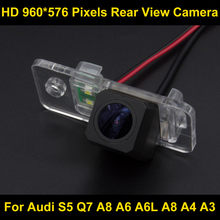 PAL HD high definition 960*576 Pixels Parking Rear view Camera for Audi A8 A6 A4 A3 2000 -2014 Q7 2007 - 2014 S5 2008 - 2014 Car
