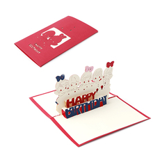 3D Stereoscopic Handmade Greeting Card Decoupage Children Birthday Postcard Gift