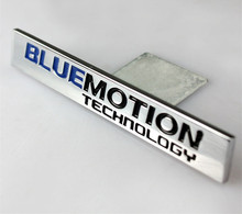 50pcs bluemotion Car Grille Stickers Emblems Decoration Blue Motion Car Styling for CC Golf 6 7 Polo Jetta Passat Sagitar Tiguan(China)