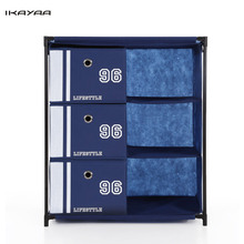 iKayaa US UK FR Stock Closet Storage Furniture 3-Drawer 3 Grids Organizador Home Organizer Cabinet for  Toys Sockets Storage Box