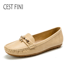CESTFINI Leather Shoes New Spring Women Flats Female Casual Flat Women Loafers Leather Women Casual Shoes #F025(China)