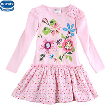 New Nova kids brand baby's clothes girls dresses high quality hot selling winter flower kids dresses children frocks(China)