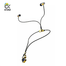 KYM-L100B Women Lady Fashion Dress Accessory Necklace Earphone Bluetooth Wireless Handset Auriculares Bluetooth Earphone Android