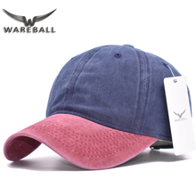 [WAREBALL] Snapback Hats Mixed 9 colors Washed Denim  Autumn Summer Men Women Baseball Cap Sun cap Beisbol Casquette Hockey Caps
