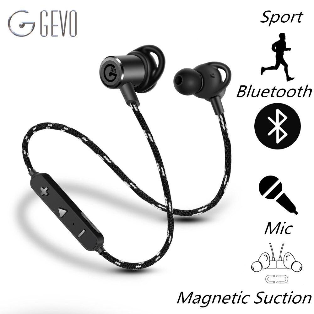 GEVO GV-18BT Wireless Headphone Bluetooth Sport In ear Magnetic Stereo Bass Waterproof Headset Earbuds Earphone For Xiaomi Phone<br>