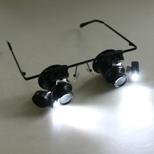 MYLB-Watch Repair Magnifier Loupe 20X Glasses With LED Light