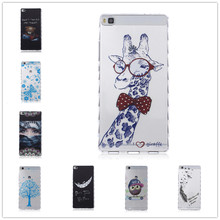 25 pattern  panda owl Camouflage TPU Silicone Soft Transparent Case for Huawei Ascend P8 Lite Back Skin Cover Cell Phone Protect